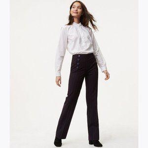 ANN TAYLOR Sailor Stripe Marisa Fit Trouser Pant 0